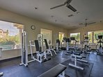Stay in shape while away with use of the fitness center.