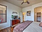 Two can claim the master suite complete with a flat-screen cable TV.