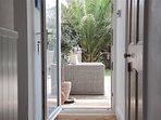 Doors to garden River Cottage from hallway
