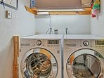 Freshen up your outfits with in-unit laundry machines.