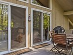Step onto the deck for some fresh air!