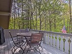 Take in all of the natural beauty surrounding this mountain getaway!