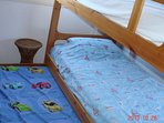 Bunk bed with extra mattress