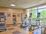 If swimming isn't your sport, the resort also has a fitness center.
