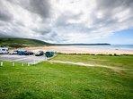 3 miles of stunning golden sands and some of the best surfing waves on the doorstep