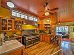 The large fully equipped kitchen has everything you need to cook for the crew.