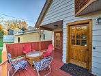 Sit out on the large back deck and listen to the sounds of Red Creek nearby.