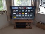 Panasonic 50inch Smart TV with Freeview HD.  Also a Blu-ray DVD player and a PlayStation 2
