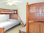 Bedroom 3.  Two bunkbeds- Twin-over-Full. (Sleeps 6)