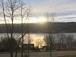 Sunset over Keuka Lake