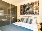 The bedroom has a comfortable double bed made to hotel standard with fresh...