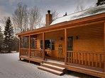 Rangeley Lake Resort Cabin Entrance