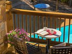 Los Lagos at Hot Springs Village balcony