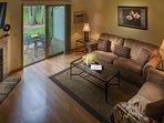 Tamarack and Mirror Lake Resort Two Bedroom Living Area