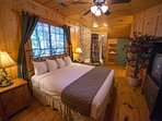 Cabins at Green Mountain Bedroom with TV