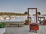 Enjoy access to this waterside dock, where you can watch the boats sail by.