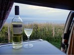 Time for wine! ...and to book your holiday in one of our fab vintage VW Campervans!