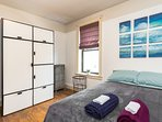 Plenty of closet space, private bedroom, doorway, windows for fresh air. Comfortable