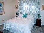 2nd Bedrm w Queen bed; closet plus hamgers; Turkish robe & door hanger