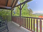 Rock in the rocking chairs and relish the Smoky Mountain views.