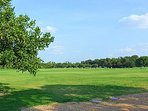 Zilker park where ACL is held 15-20 minute walks away