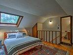 Head upstairs to access the master bedroom.