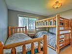 The first bedroom provides accommodations for 3 guests.
