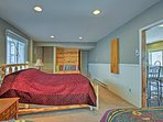 Enjoy a restful night on the queen bed in the second bedroom.