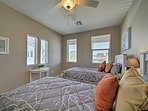 Bright and breezy, the third bedroom bedroom  boasts 2 twin beds.