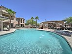 Dive into relaxation in the outdoor heated pool.