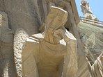 scultura Sagrada Familia di Gaudi