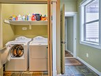 Keep clothes fresh with the in-unit laundry machines.