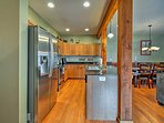 Step inside and enter the fully equipped kitchen.
