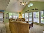 Enjoy water views from the windows in the spacious living room!