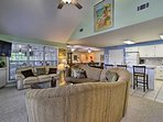 This 4-bedroom, 2.5-bath home boasts 2,300 square feet of living space.