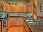 You'll have stainless steel appliances and ample counter space for meal prep.