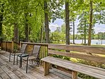 You can't beat this lake view from the deck!