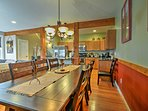 Share your home-cooked feasts at this elegant dining table.