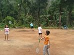Kids enjoying a game of Badminton