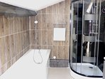 Salle de bain en duplex