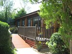 Willow Lodge, sleeps 5 in 3 bedrooms.  Rated by Visit England as 4 Star accommodation.