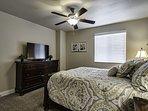 Bedroom upstairs with Queen bed