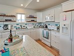 This fully equipped kitchen will please any chef in the group.