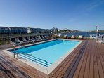 Relax at the pool that is well taken care of with great views.