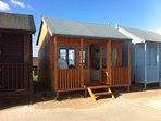 The beach hut at Sandilands