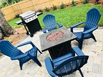An outside grill and fire pit is complimentary!