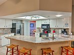 The fully equipped kitchen has everything you need to make tasty meals.