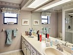 With 2 baths, there's plenty of room for everyone to get ready in the morning.