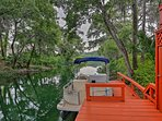 Tie up your boat at the private dock!