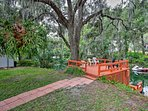 This 3-bedroom, 2-bath home is located right on the Rainbow River.